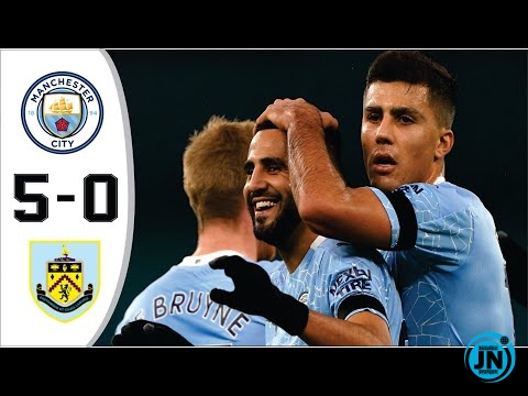 Man City vs Burnley 5−0 Goals & Highlights